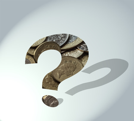 Future of the Pound: question mark filled with coins