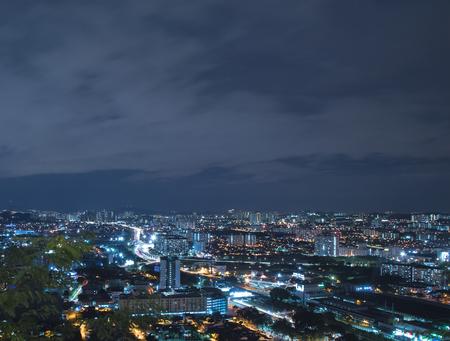 Nightscape (aerial) of Petaling Jaya and Sunway