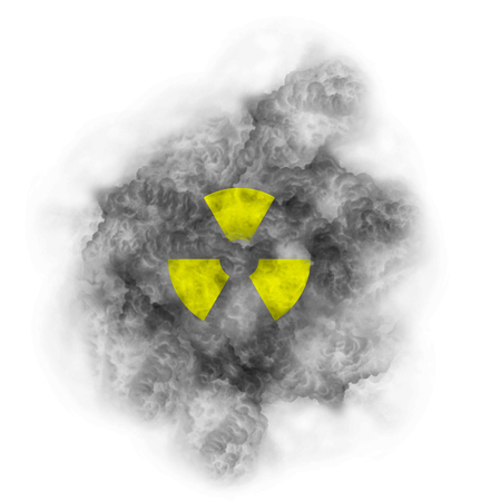 Nuclear symbol toxic cloud Stockfoto