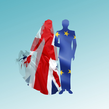 EU and UK reconcile in a visually metaphorical marriage
