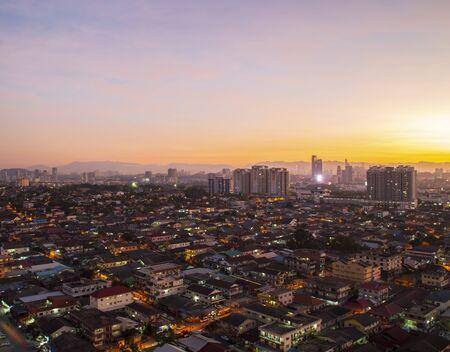 Sunrise over Petaling Jaya and Kuala Lumpur, Malaysia