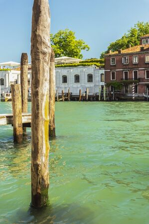 Typical view of Venice and its Grand Canal in summer