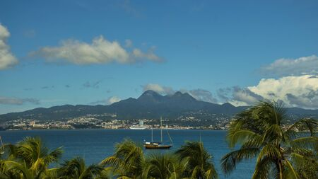 View of Fort-de France bay in Martinique