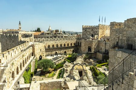 View of Herod's the great Palace and Jerusalem old city