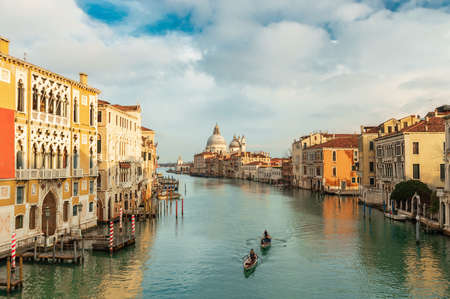 Typical view of a canal in Venice