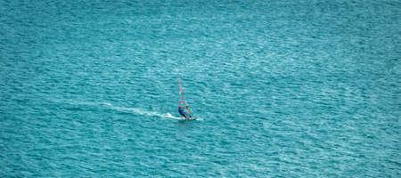 Windsurfer in the ocean