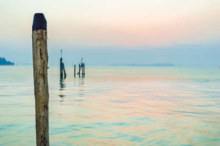 Aqua sunrise over Venice lagoon