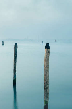 Cold winter calm on Venice lagoon