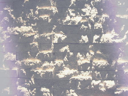 mistic: unreal light brick wall Stock Photo