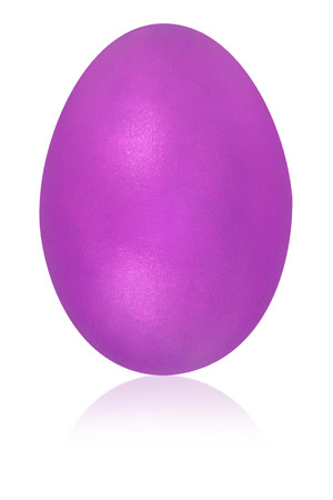 turquise: violet egg isolated background