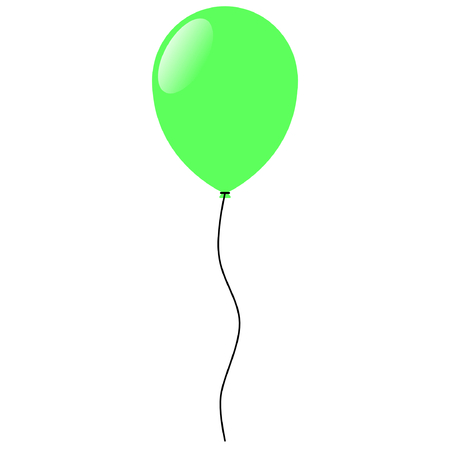 Green Balloon vector illustration Фото со стока - 96975938