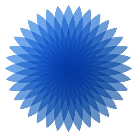 青い花のベクトルのイラスト