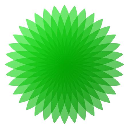 緑の花ベクトルのイラスト  イラスト・ベクター素材