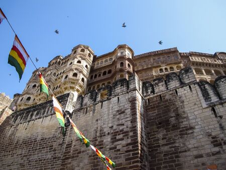 subcontinent: The mpressive Jodhpur fort in Rajasthan, Indian subcontinent Stock Photo