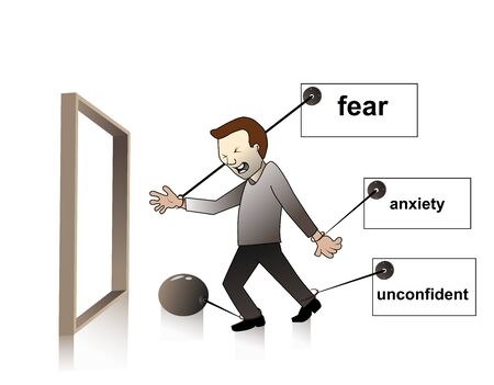 trap in the emotion,fear,anxiety,unconfident