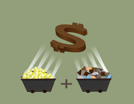 treasury: to creat the money by mixed idea and knowledge to gether