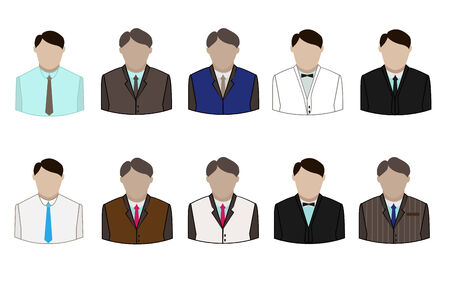 set of the business suit on white background Vector