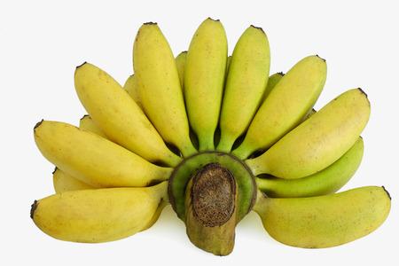 ripened: bunch of ripened bananas on white background Stock Photo