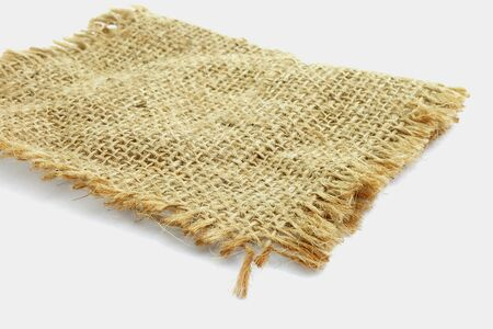 hessian: burlap hessian sacking on white background Stock Photo