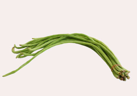 cow pea: green cow- pea on the white background Stock Photo