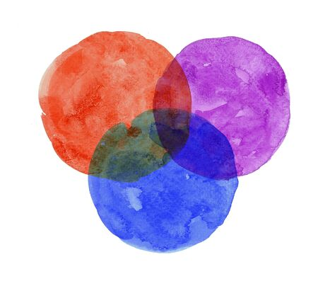 colorful abstract circle painting watercolor