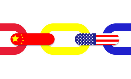 trading chain connection between china and america
