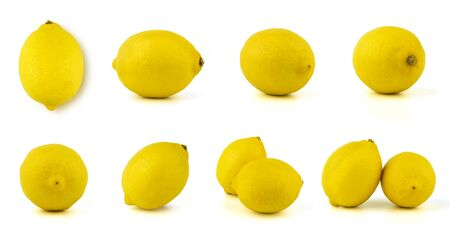lemon fruits set in many side for use