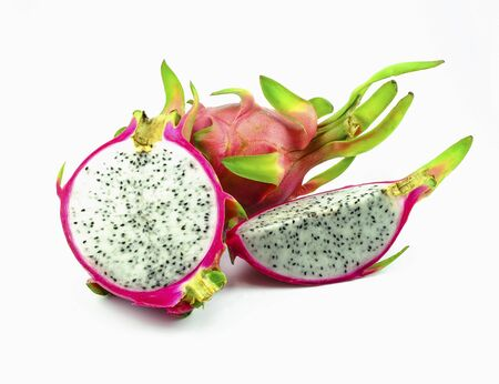close-up dragon fruit on white background Stock Photo