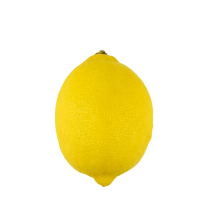 single lemon isolated on white background Stock Photo