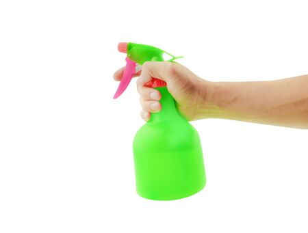 green pump sprayer with  preparation for washing Stock Photo - 134864408