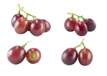isolated red grape on white background Stock Photo - 132135430