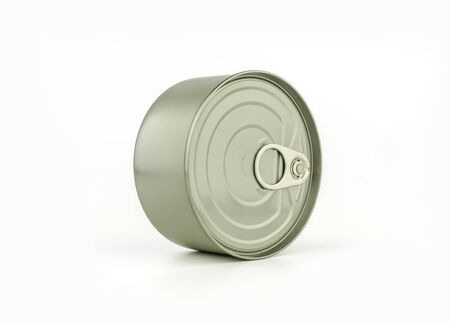 mitallic tin can for food container with ring pull