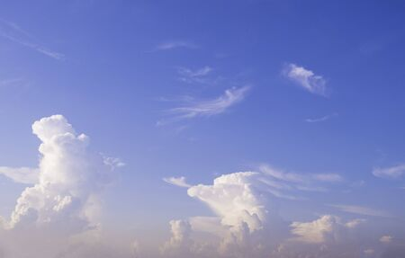 morning blue sky with beautiful cloud Stock Photo - 134864524
