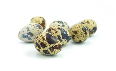 quail egg for cooking on white background Stock Photo