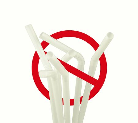 stop using plastic straws concept for Save the earth and environment