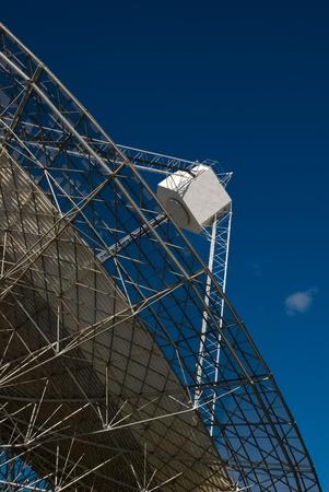 Close up of radio dish and focus pod photo
