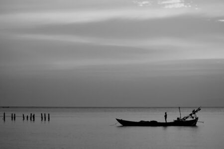 Peaceful Boat in Calm Water photo