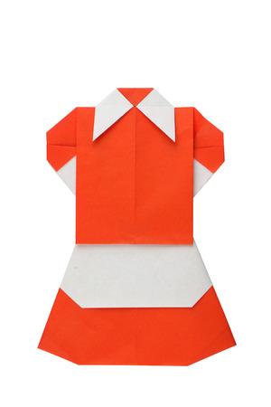 origimi: Paper dress Stock Photo