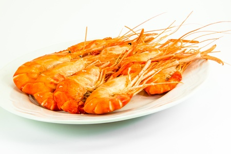 decapod: cooked tiger prawns