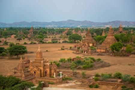 Panorama view of old Bagan, Myanmar Imagens