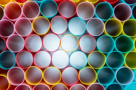Radiation of Colorful straws photo