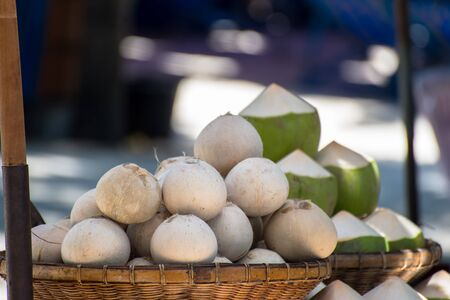Fresh young coconuts Stock Photo - 20585002