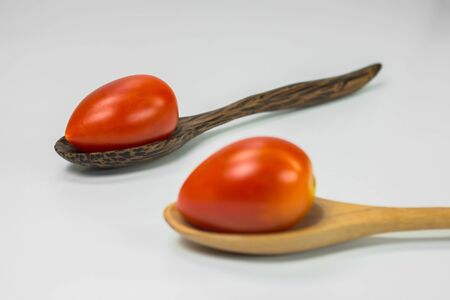 tomatoes  in the spoons photo