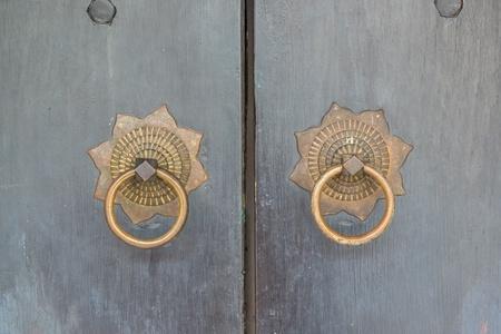 locked old wooden door  photo