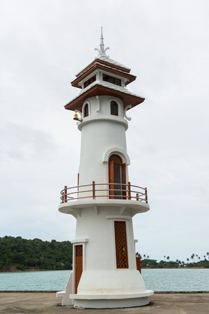 the lighthouse at the marina, Chang Island Thailand Stock Photo - 21522129