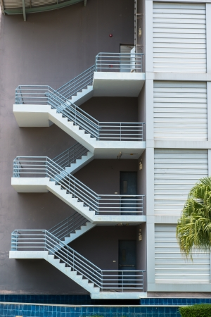 emergency exit: fire escape stairs