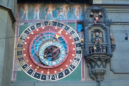 zodiacal: Famous Zytglogge zodiacal clock in Bern, Switzerland Editorial