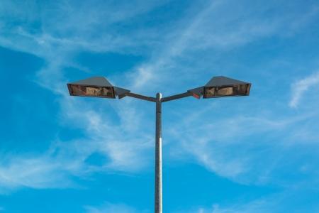 Streetlight isolated on blue sky