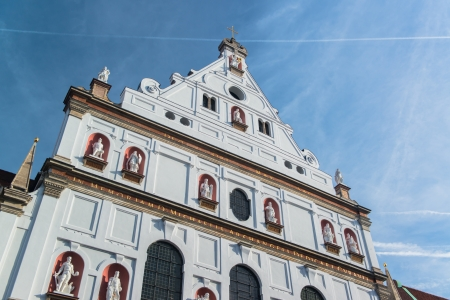 Buildings in munich city center, Marienplatz photo