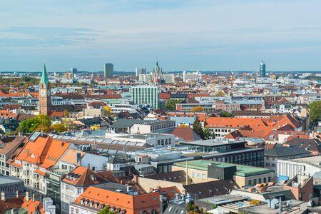 Aerial view of Munchen  Marienplatz photo